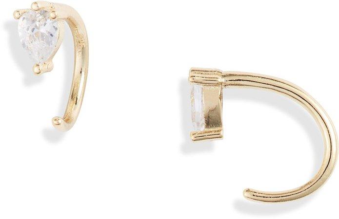 Teardrop Threader Earrings