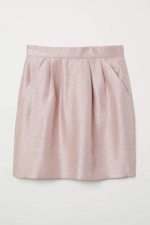 Textured-weave Skirt - Pink