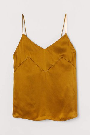 Silk Camisole Top - Yellow