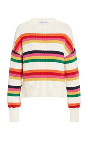 Striped Cotton Pullover By Oscar De La Renta | Moda Operandi