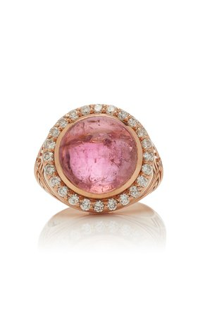 Marlo Laz 14K Rose Gold Tourmaline And Diamond Ring