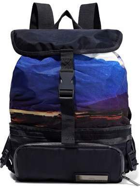Convertible Mesh-trimmed Printed Shell Backpack