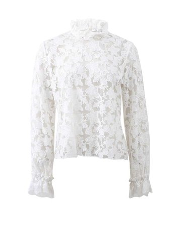 Alexis Meryl Embroidered Lace Top in Beige (CREAM)