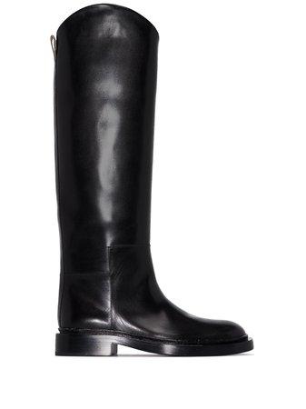 Jil Sander knee-high low-heel Boots