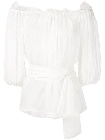 Andrea Bogosian, polka dots silk blouse
