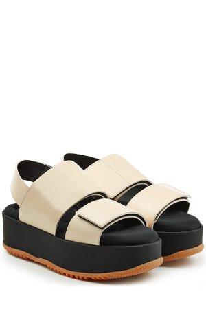 Leather Platform Sandals Gr. IT 38