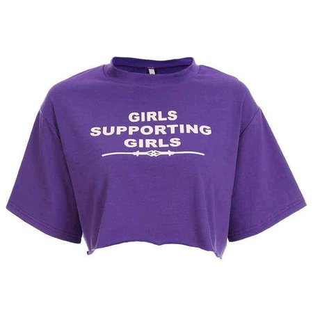 Girls Supporting Girls Cropped Tee | Shop Minu | Korean and Aesthetic fashion