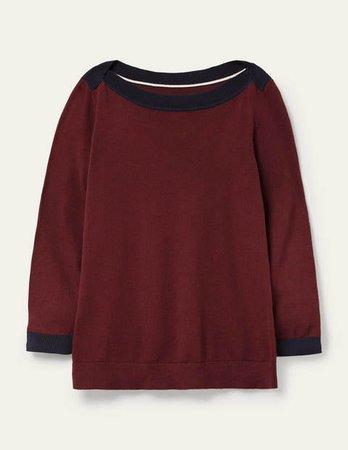 Gloucester Sweater - Maroon | Boden US
