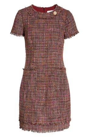Harper Rose Fringe Trim Tweed A-Line Dress | Nordstrom