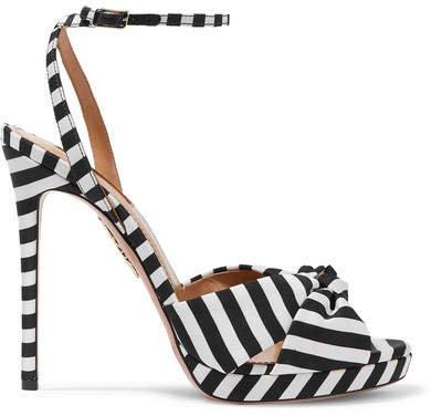 Chance 115 Striped Faille Sandals - Black