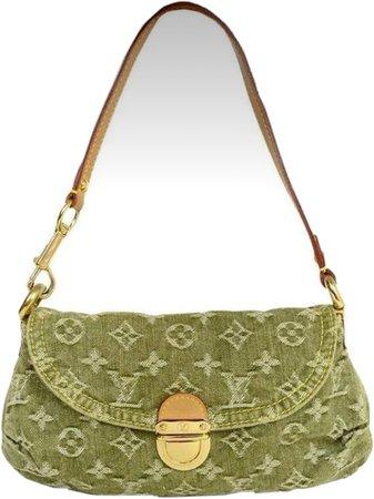 green vintage purse
