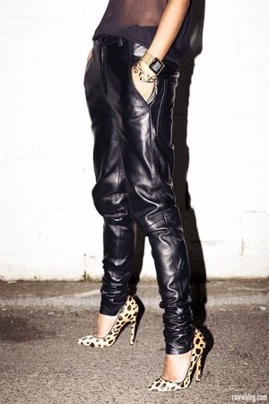 leather and leopard pinterest - Google Search