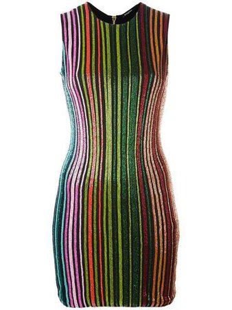 Balmain Striped Sequin Dress  - Buy Online - Phenomenal Luxury Brands, Fast Delivery
