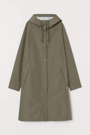 Hooded Raincoat - Green