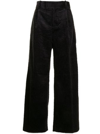Shop black Undercover corduroy wide-leg trousers with Express Delivery - Farfetch