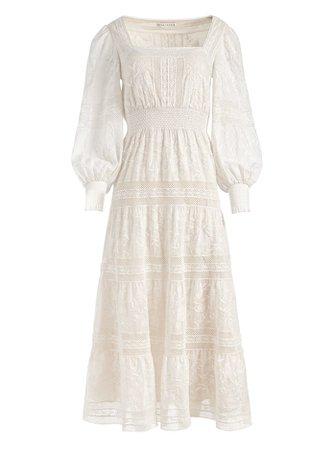 Finley Embroidered Midi Dress   Alice And Olivia