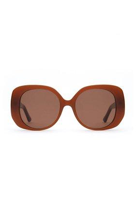 The Rendezvous Round-Frame Acetate Sunglasses by Velvet Canyon | Moda Operandi