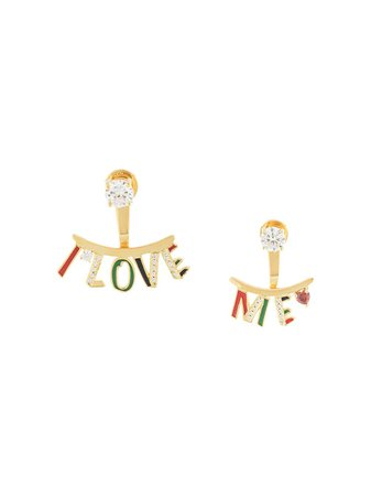 Ooak 'I Love Me' Earrings - Farfetch