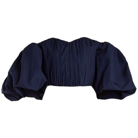 Bachelorette off-the-shoulder cotton top Ellery