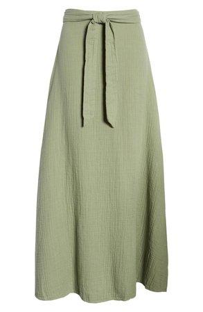 Tie Waist Maxi Skirt   Nordstrom