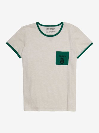 Harry Potter Slytherin Pocket Girls Ringer T-Shirt