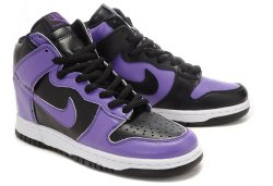 cheap Nike Dunk High Spike Men Shoes Black Purple, 100% original sale
