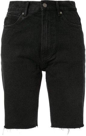 Raw-Cuffs Denim Shorts