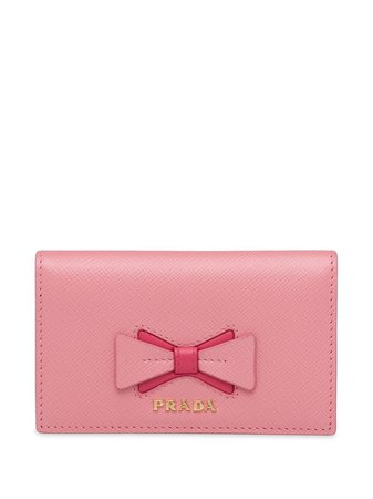 Prada bow-detail Folding Wallet - Farfetch
