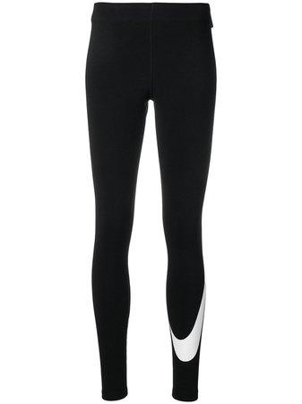 Nike Black Logo Leggings | Farfetch.com