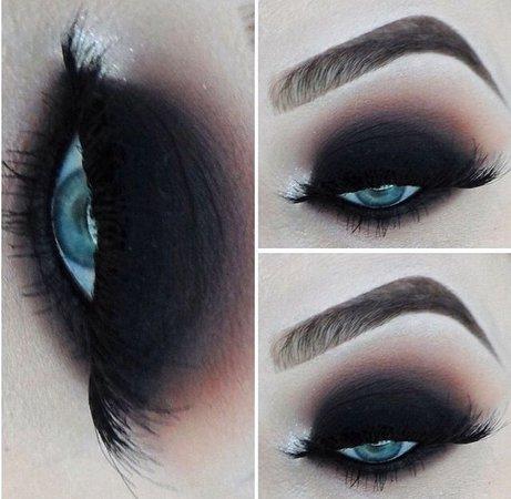 black eyeshadow on blue eyes - Google Search