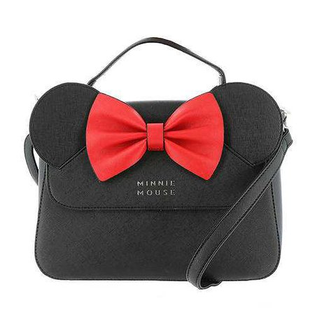 Loungefly x Disney Minnie Mouse Crossbody Bag with Ears and Bow | FREE Shipping at ShoeMall.com