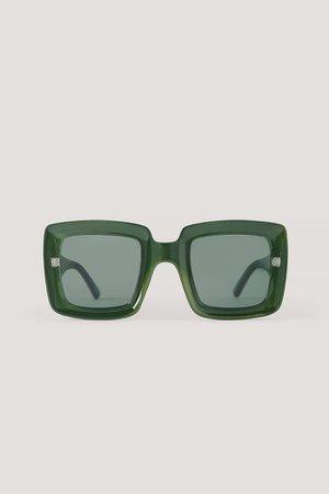 Big Retro Sunglasses Green | na-kd.com