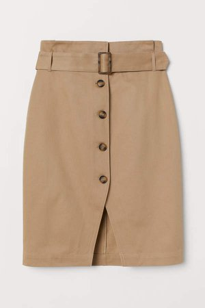 H&M+ Skirt with Belt - Beige