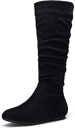 Amazon.com   Jeossy Women's 40 Slouch Boots Knee High Tall Slouchy Boot Flat Wide Mid Calf Boots   Mid-Calf