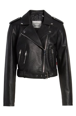 Levi's® Faux Leather Fashion Belted Moto Jacket | Nordstrom