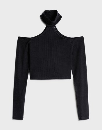 Off-the-shoulder sweater - New - Bershka United States