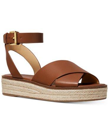 Michael Kors Abbott Sandals & Reviews - Sandals & Flip Flops - Shoes - Macy's brown