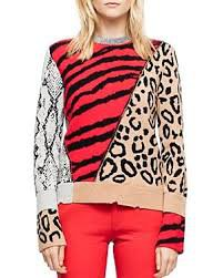 mixed animal print sweater - Google Search