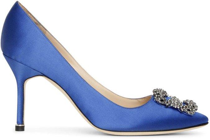 Hangisi 90 royal blue satin pumps