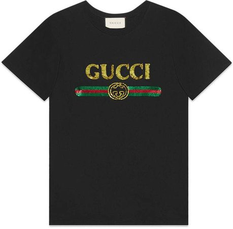 Oversize T-shirt with sequin logo