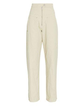 Isabel Marant Étoile Phil High-Rise Cotton Trousers   INTERMIX®