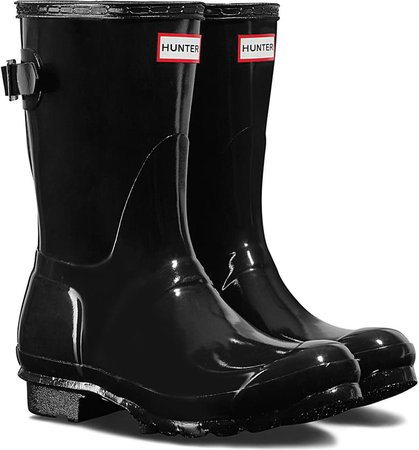 Hunter Original Short Adjustable Back Gloss Waterproof Rain Boot (Women) | Nordstrom
