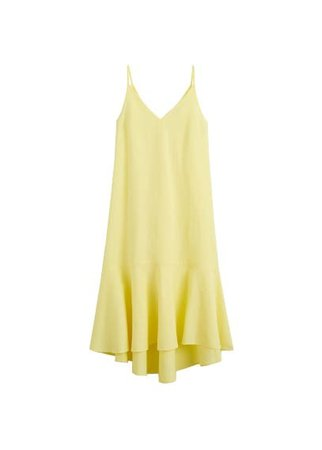MANGO Frill cotton dress
