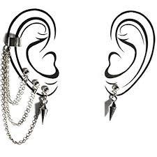 dangle chain earrings cuff - Google Search