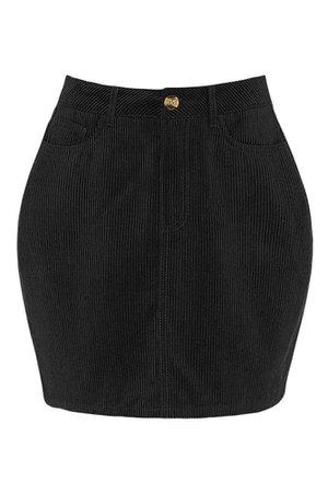 LE3NO Womens Classic Stretchy High Waisted Corduroy Mini Skirt | LE3NO