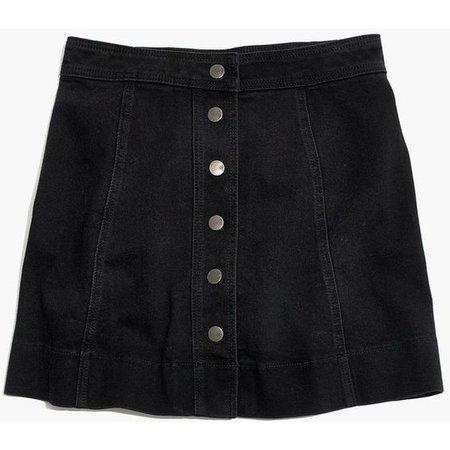 A-Line Button Up Skirt
