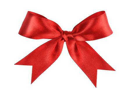 Deep Red Tied Ribbon Bow