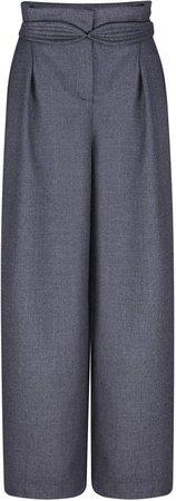 Anna October High-Rise Wool-Blend Pants