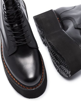 R13 Double Stack leather boots