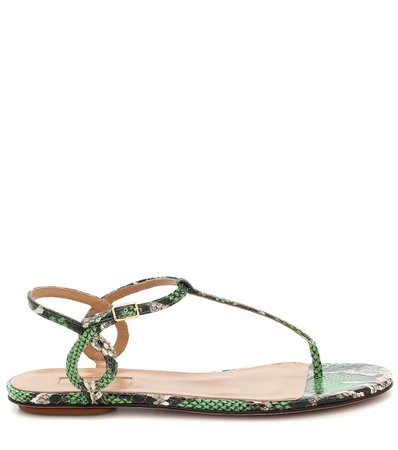 Almost Bare Snakeskin Sandals - Aquazzura | Mytheresa
